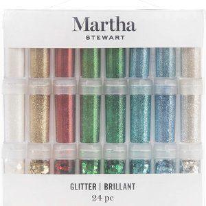 Martha Stewart Brillant Glitter-24 pieces.